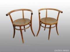 8017 Antik jelzett Thonet karfás szék pár