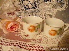 4 db sárga rózsás KARLSBADI csésze