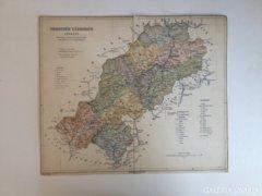 Régi Trencsén Vármegye térképe