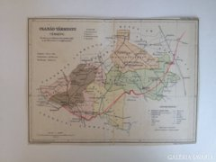 Régi Csanád Vármegye térképe
