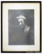 8262 Antik jelzett Rembrandt repro
