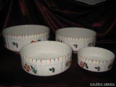 Ostmark Keramik.4 db tál & kínáló készlet.