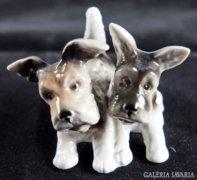 Unterweissbach porcelán kutyusok