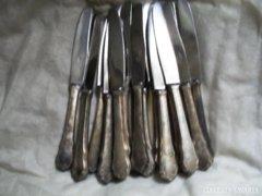 Ezüstözött alpakka kések 19 db
