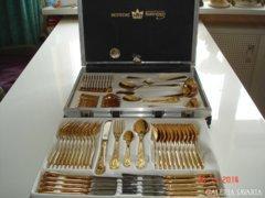 Arany Barokk 24 karátos,extra-luxus evőeszköz! 12 szem.70db