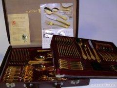 Arany Rokokó 24 karátos,extra-luxus evőeszköz! 12 szem.70db
