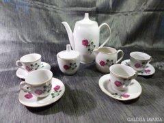 4 személyes rózsás kávés készlet