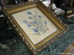 Antik festmény , selyemre