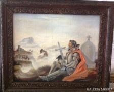 Ismeretlen:Harcos Sir Galahad sírjánál