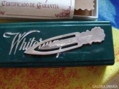 Ezüst nyakkendőcsipesz eredeti dobozában