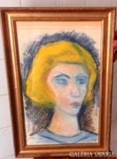 Czóbel?: Női portré