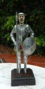 Don Quijote kézimunka elefántcsont fej, fém páncél