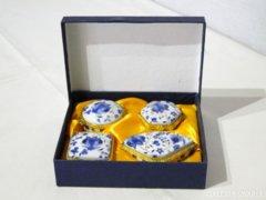 7953 LIMOGES porcelán gyűrűtartó díszdobozban 4 db