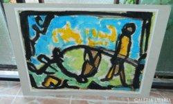 Lipták Pál : Az emlékezés furcsa egyensúlya - akvarell