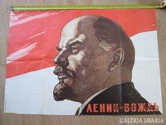 Lenin plakát eredeti Viktor Ivanov jelzett, számozott