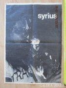 Syrius koncert plakát jelzett kiadóval