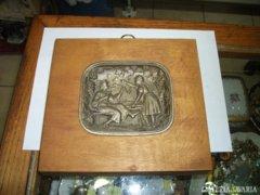 Spiáter betétes falikép