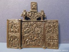 REGI ORSOZ Triptychon UTAZO IKON AZ 1800-AS EVEKBOL