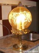 Hangulatos 3 égős lámpa üvegbúrával