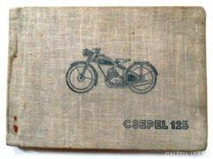 Csepel 125/49  motorkerékpár könyv