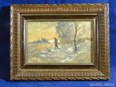 6865 NEOGRÁDY ANTAL akvarell vadászjelenet
