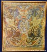 6879 Keretezett Wawel vászon bibliai témájú kép
