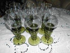 6db. gyönyörű boros kehely.