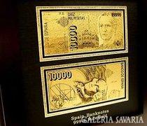 24 Kt 999.9 ARANY SPANYOL ARANYPÉNZ,PÉNZ BANKJEGY