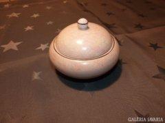 Hollóházi eozin mázas bonbonier- különleges darab (39)