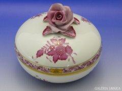 6492 Herendi lila Apponyi nagyméretű bonbonier