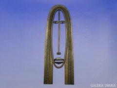 0A013 Percz János bronz relief maszk
