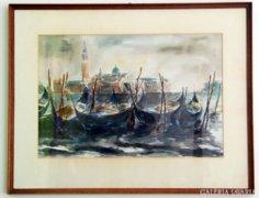 Velence akvarell kép