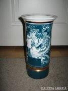 Szász Endre ritka  zöld színű váza, 26 cm