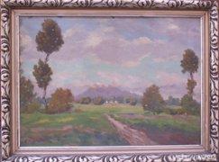 Vaclav Kozak (1889-): Cseh tájkép , Kunetická hegy