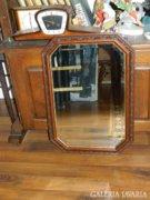 Antik kézzel faragott keretű csiszolt üvegű tükör