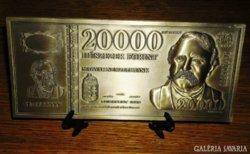 20.000 Ft FORINT BANKJEGY,BANKJEGYVERET,353 g RITKA AJÁNDÉK