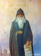 Orosz ikon,19.szazad,tempera fatabla