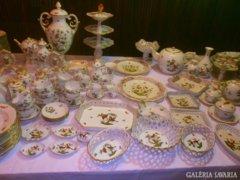 Renkívüli Luxus 220 db.Herendi Rotschild porcelángyüjtemény!