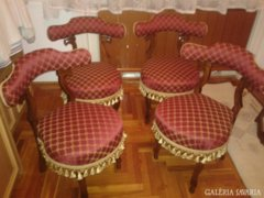 Eladó 4 db jelzett voyeuse chair, neo- rokokó szék 1871-ből!