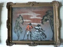 Selyemre festett festmény, Blondel keretben