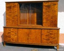 0A218 Régi ruhásszekrény vitrinnel