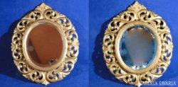 0A614 Antik florentin tükör keretek párban