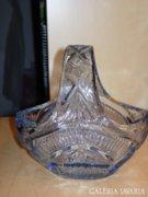 Bohemia üveg kínáló kosárka, bonbonier