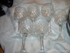 Kristály boros pohár 6 darab  17 cm magas
