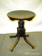 S588 Antik jelzett fekete THONET zongora szék