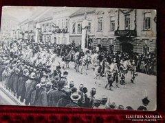 Korabeli kép IV. KÁROLY KORONÁZÁSA 1916. K.u.k.