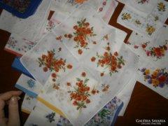 871. Díszzsebkendő csomag - virág mintás