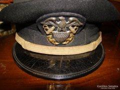 USA II. vh. haditengerészeti tiszti tányérsapka