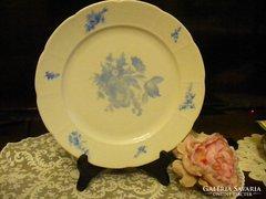 Meisseni kék virágos lapos tányér