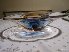 Modern jugoszláv kristály üvegtál
